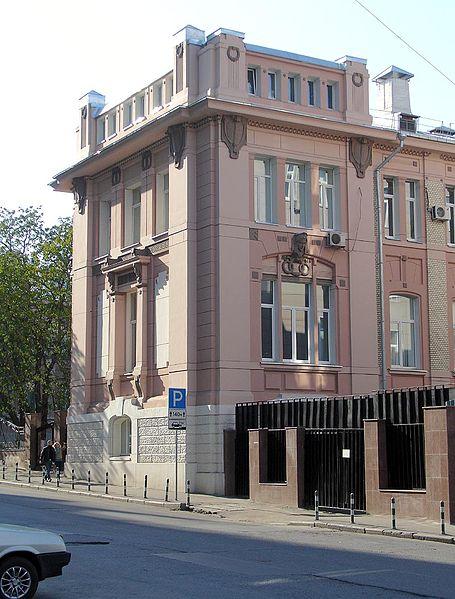 Сберегательная касса в Рахмановском переулке, 1902—1907.   Bank in Rahmanovsky Lane (corner of Neglinnaya Street) in Moscow