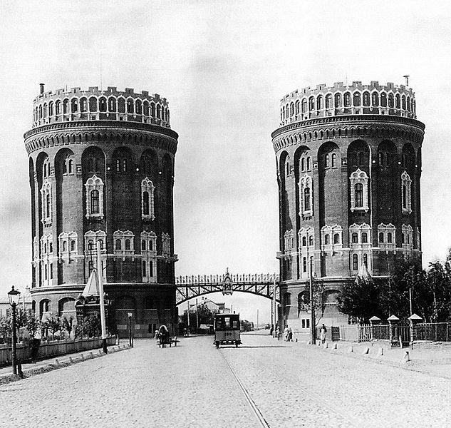 Водонапорные башни у Крестовской заставы, 1890-1893 (уничтожены в 1940) Moscow, Water Towers, 1890s