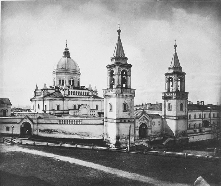 Ивановский монастырь  Ivanovsky Convent in Moscow. Main cathedral by Konstantin Bykovsky