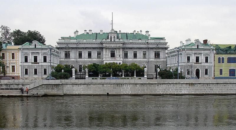 Главный дом усадьбы П. И. Харитоненко (1891-1893, Москва), Sofiyskaya Embankment, Moscow