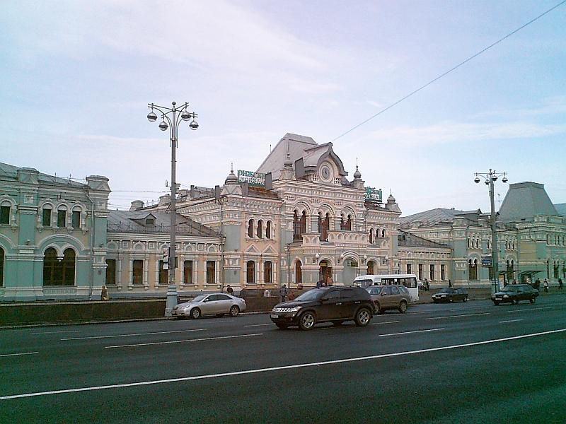 Рижский вокзал в Москве, Россия, Riga station in Moscow, Russia