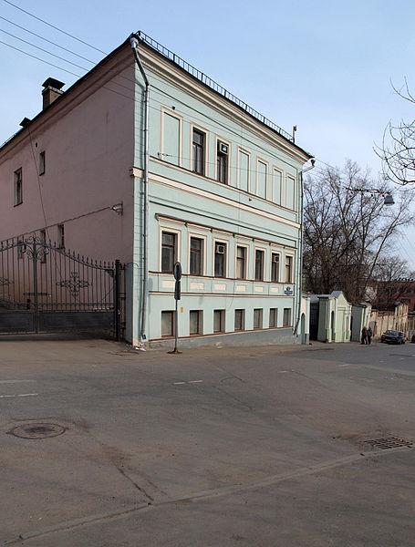 Большой Николоворобинский переулок, Москва. Bolshoy Nikolovorobinsky Lane, Moscow.
