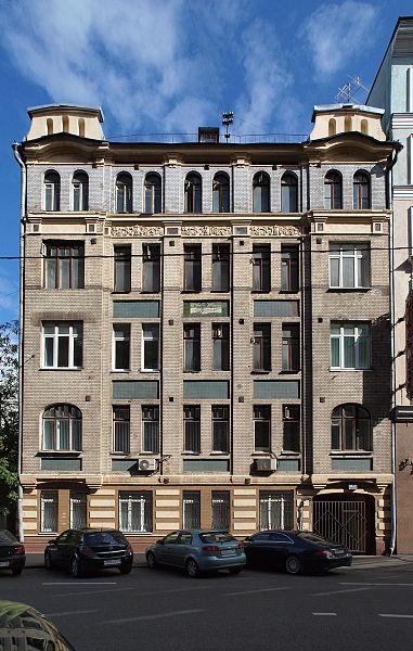 Доходный дом (1911, Первая Брестская улица, 42), Late Art Nouveau apartments - 1st Brestskaya Street 42, Moscow - Ольгерд Густавович Пиотрович