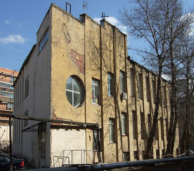 Здание конторы Ново-Сухаревского рынка. The Sukharev Market Office design by Konstantin Melnikov.