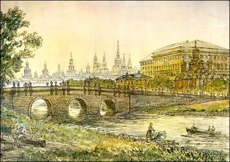 Неглинная и Кузнецкий мост в XVIII в., Kuznetsky most in the XVIII century