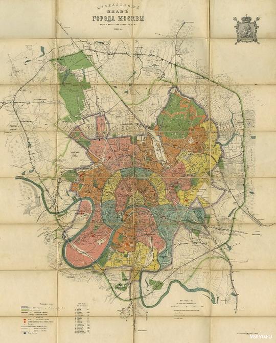 Карта города Москва 1912 г. - План города Москвы, 1910 г.: http://www.mskvd.ru/gallery/p17_sectionid/16/p17_imageid/181
