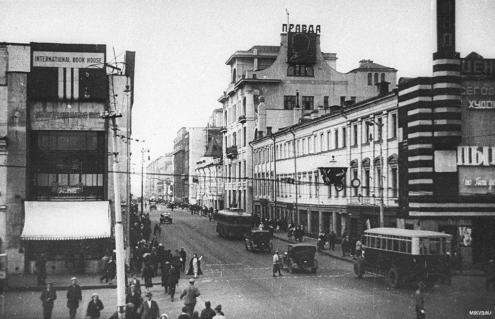 здание газета Правда - Улицы Москвы, старые фото: http://www.mskvd.ru/gallery/p17_sectionid/8/p17_imageid/81