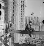 Советская архитектура, старые чб фото - Работа высотников
