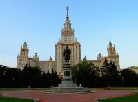 Советская архитектура - Главный корпус МГУ  - вид на высотку здания университета